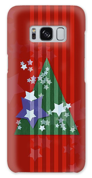 Stars And Stripes - Christmas Edition Galaxy Case by AugenWerk Susann Serfezi