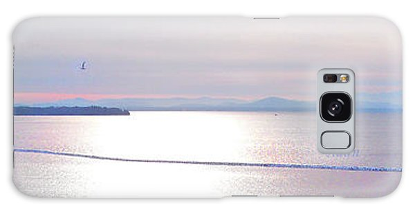 Lake Champlain South From Atop Battery Park Wall Panorama Galaxy Case