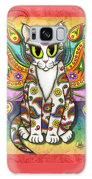 Rainbow Paisley Fairy Cat Galaxy Case