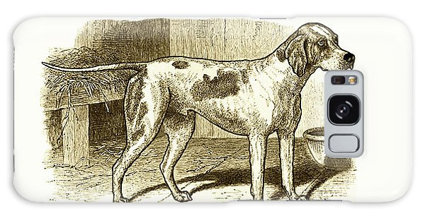 Vintage Sepia German Shorthaired Pointer Galaxy Case