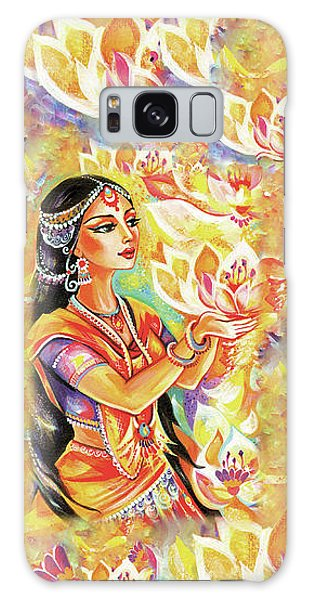 Galaxy Case featuring the painting Pray Of The Lotus River by Eva Campbell