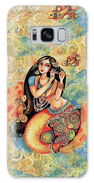Aanandinii And The Fishes Galaxy Case by Eva Campbell
