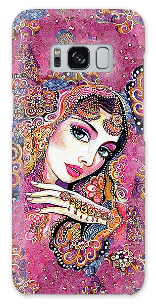 Galaxy Case featuring the painting Kumari by Eva Campbell