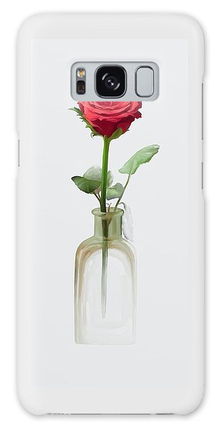 Galaxy Case featuring the painting Smell The Rose by Ivana Westin