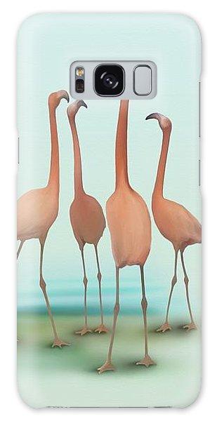 Flamingo Mingle Galaxy Case by Ivana Westin