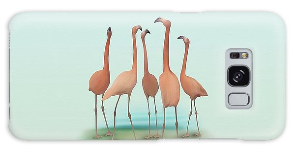 Flamingo Mingle Galaxy Case