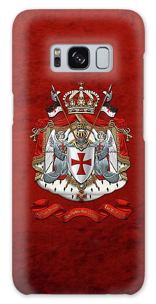 Knights Templar - Coat Of Arms Over Red Velvet Galaxy Case
