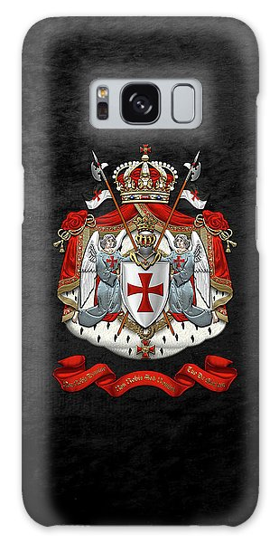 Knights Templar - Coat Of Arms Over Black Velvet Galaxy Case