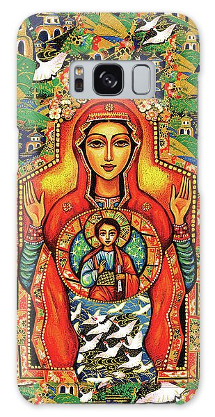 Galaxy Case featuring the painting Our Lady Of The Sign by Eva Campbell