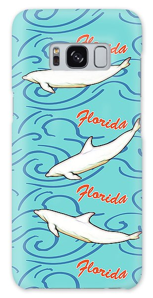 Florida Dolphin Print Galaxy Case by Methune Hively