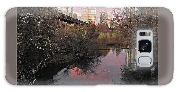 Austin Hike And Bike Trail - Train Trestle 1 Sunset Triptych Right Galaxy Case