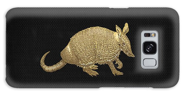 Pop Art Galaxy Case - Gold Armadillo On Black Canvas by Serge Averbukh