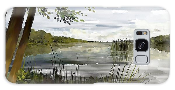 Galaxy Case featuring the painting Quiet Day By Lake by Ivana Westin