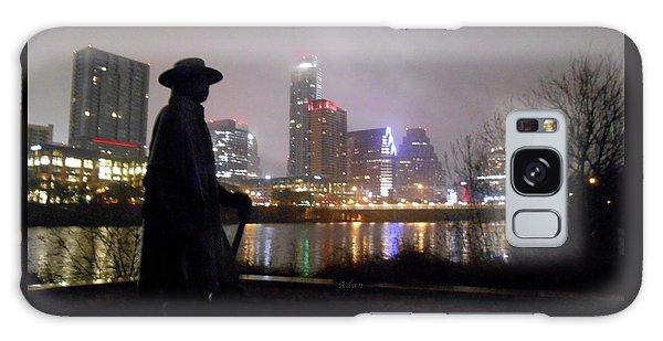 Austin Hike And Bike Trail - Iconic Austin Statue Stevie Ray Vaughn - One Galaxy Case by Felipe Adan Lerma