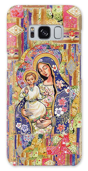 Galaxy Case featuring the painting Panagia Eleousa by Eva Campbell