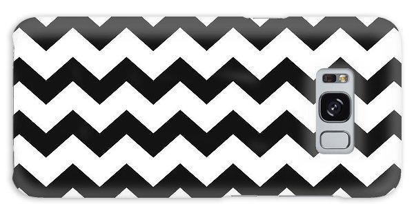 Black White Geometric Pattern Galaxy Case