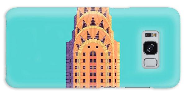 Art Deco Galaxy S8 Case - Chrysler Building - Cyan by Ivan Krpan