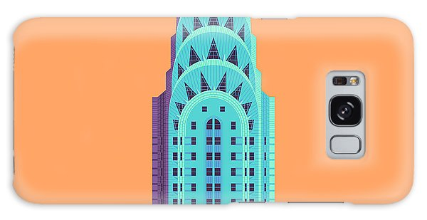 Art Deco Galaxy S8 Case - Chrysler Building - Orange by Ivan Krpan