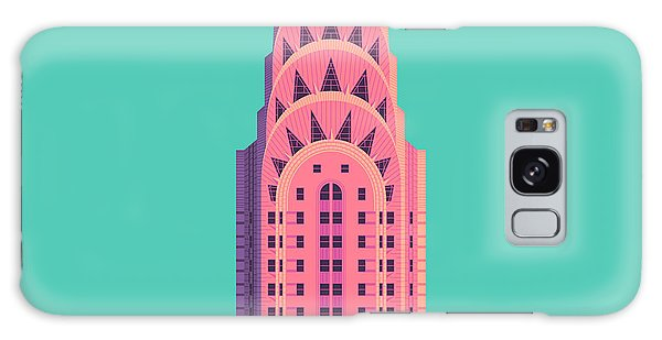 Art Deco Galaxy S8 Case - Chrysler Building - Green by Ivan Krpan