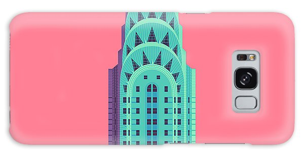 Art Deco Galaxy S8 Case - Chrysler Building - Red by Ivan Krpan