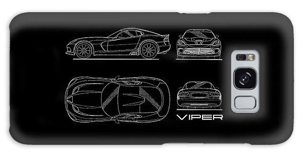 Srt Viper Blueprint Galaxy Case by Mark Rogan