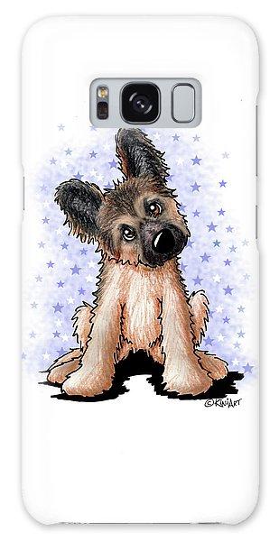 Curious Shepherd Puppy Galaxy Case