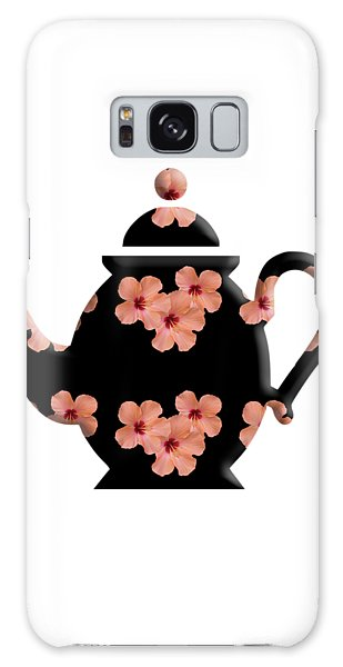 Hibiscus Pattern Teapot Galaxy Case