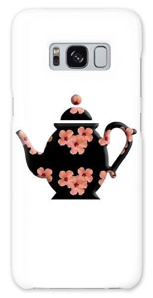 Hibiscus Pattern Teapot Galaxy Case