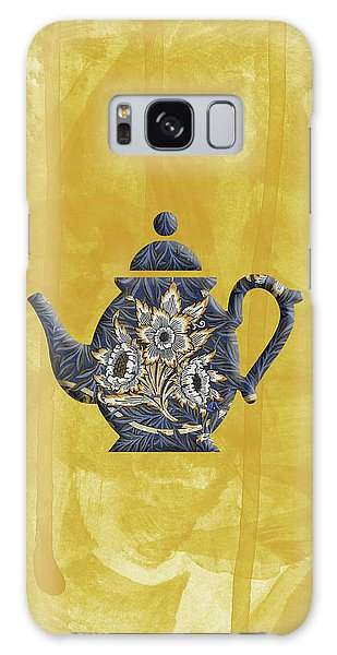 Tulips And Willow Pattern Teapot Galaxy Case