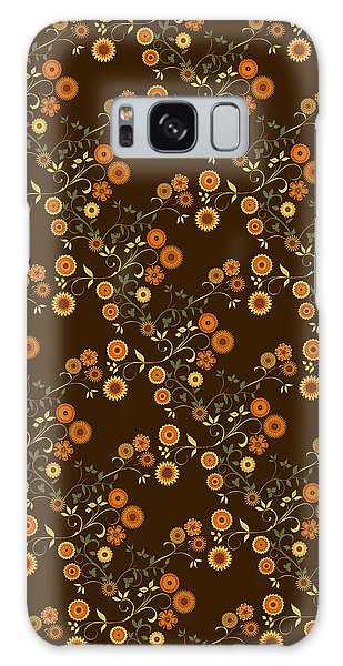 Autumn Flower Explosion Galaxy Case by Methune Hively