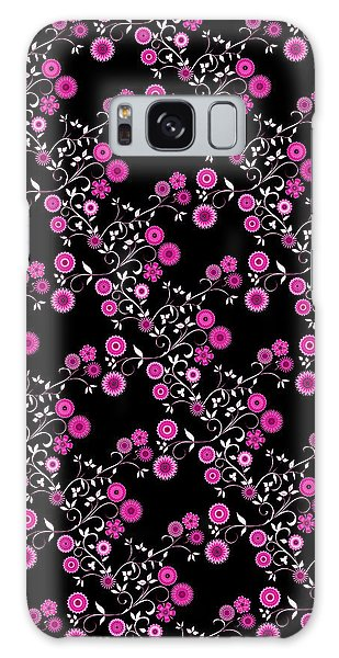 Pink Floral Explosion Galaxy Case by Methune Hively
