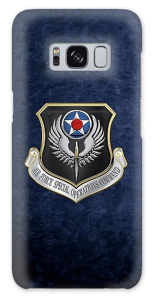 Air Force Special Operations Command -  A F S O C  Shield Over Blue Velvet Galaxy Case by Serge Averbukh