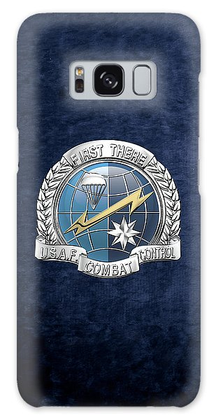 U. S.  Air Force Combat Control Teams - Combat Controller C C T Badge Over Blue Velvet Galaxy Case by Serge Averbukh