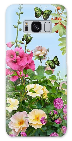 Galaxy Case featuring the painting Wild Garden by Ivana Westin