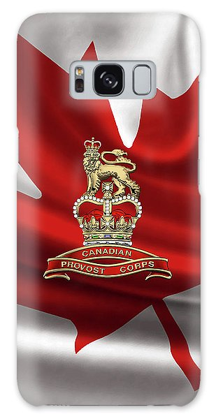 Canadian Provost Corps - C Pro C Badge Over Canadian Flag Galaxy Case by Serge Averbukh