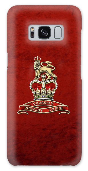 Canadian Provost Corps - C Pro C Badge Over Red Velvet Galaxy Case by Serge Averbukh