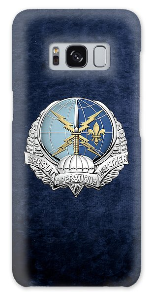 Special Operations Weather Team -  S O W T  Badge Over Blue Velvet Galaxy Case by Serge Averbukh