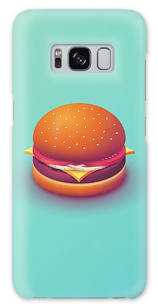 Galaxy Case - Burger Isometric - Plain Mint by Ivan Krpan