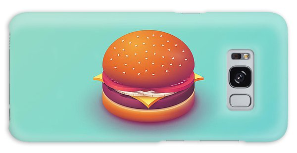 Poster Galaxy Case - Burger Isometric - Plain Mint by Ivan Krpan