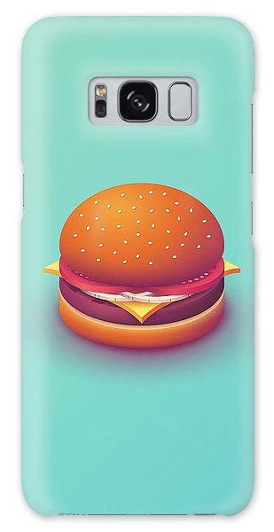 Day Galaxy Case - Burger Isometric - Plain Mint by Ivan Krpan