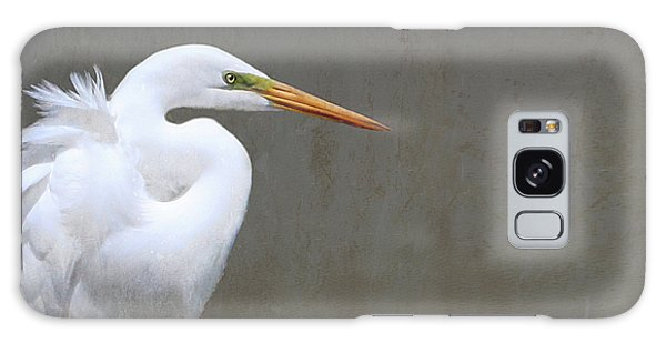 Portrait Of An Egret Rectangle Galaxy Case