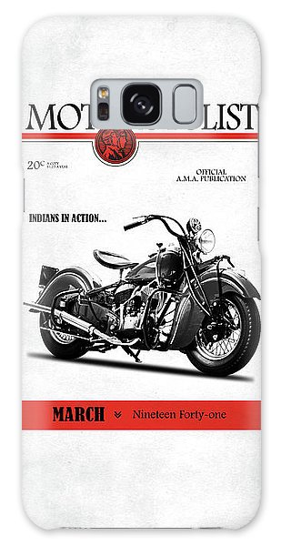 Magazine Cover Galaxy Case - Motorcycle Magazine Indian Chief 1941 by Mark Rogan