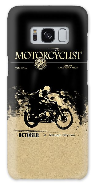 Magazine Cover Galaxy Case - Motorcycle Magazine Bmw Racing Team 1952 by Mark Rogan