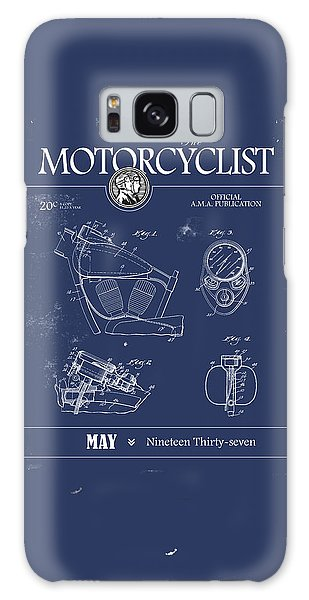 Magazine Cover Galaxy Case - Motorcycle Magazine Harley Motorcycle Design 1937 by Mark Rogan