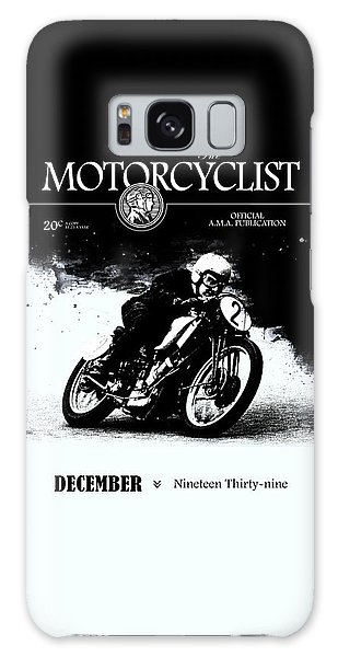 Magazine Cover Galaxy Case - Motorcycle Magazine Racer Number Two 1939 by Mark Rogan