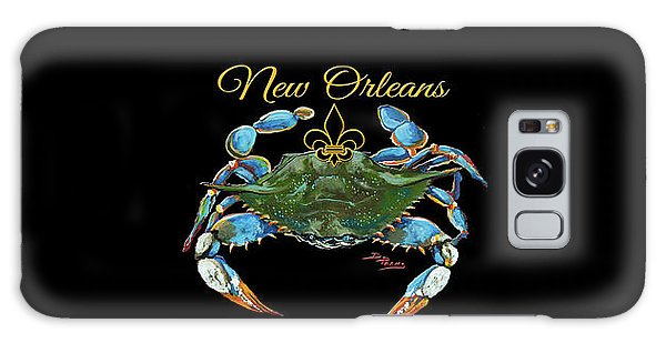 Louisiana Blue On Red Galaxy Case by Dianne Parks