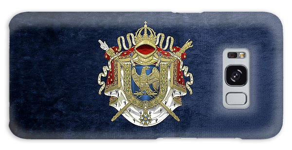 Greater Coat Of Arms Of The First French Empire Over Blue Velvet Galaxy Case