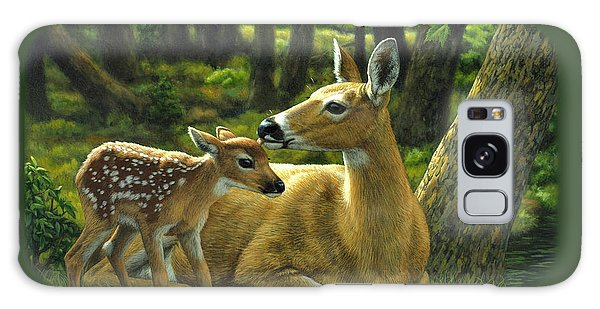 White-tailed Deer Galaxy Case - Whitetail Deer - First Spring by Crista Forest