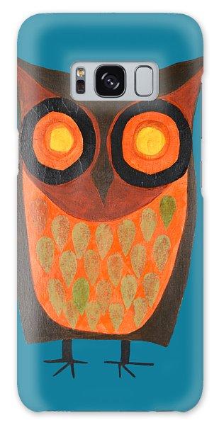 Give A Hoot Orange Owl Galaxy Case