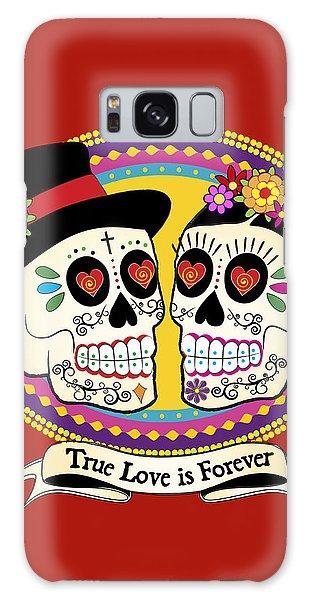Calavera Galaxy Case - Los Novios Sugar Skulls by Tammy Wetzel